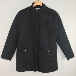 J.Jill Quilted Black Jacket MP